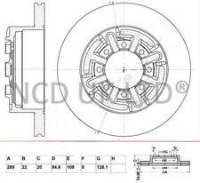 JURATEK REAR BRAKE DISC FOR IVECO DAILY 2798CCM 106HP 78KW (DIESEL)