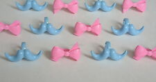 12 Boy Girl Baby Shower Gender Reveal Cup Cake Rings Topper Party Favor Supply
