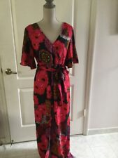 Love Destiny Red Floral Maxi Faux WrapShorts Dress Size XL *NWT*