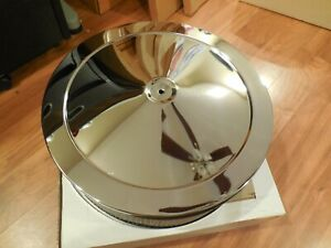 """New Dyna Chrome 14"""" Chrome Air Filter Assembly 4"""" Tall Filter #11088"""