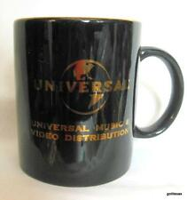 """Universal Music and Video Distribution Mug Gold on Black 3.75"""""""