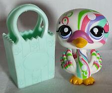 Littlest Pet Shop #1578 Rainbow Postcard Swan Tattoo Purple Eyes Toy LPS Hasbro