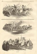 1847 ANTIQUE PRINT- SKETCHES IN MEXICO
