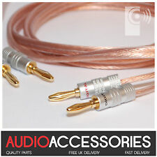 5m CUSTOM MADE Terminated 2.5mm² Speaker Cable (OFC Cable & BP2 Banana Plugs)