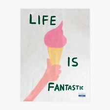 David Shrigley, 'Life is fantastic', Handtuch mit print, 100% Leinen