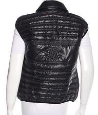 Authentic CHANEL Black Quilted 'CC' Logo Down Vest - 46
