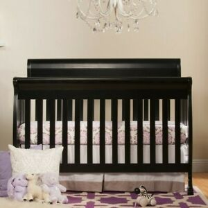 Crib 4 in 1Convertible Ebony Baby Infant Toddler Grows with Child Best Gift ever