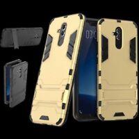 Para Huawei Mate 20 Lite Metal Style Exterior Oro Funda Carcasa Cobertura