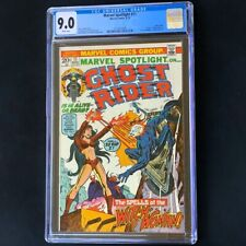"""Marvel Spotlight #11 (1973) 💥 CGC 9.0 💥 Ghost Rider + """"Death"""" of Witch-Woman"""