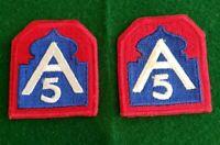 US Army WW2 5th Army Patch Lot of 2