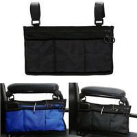 Wheelchair Side Armrest Pouch Armrest Bag Organizer Bag For Phone Walker Scooter