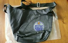 Little Earth NHL Edmonton Oilers Sport Noir Sheen Hobo Bag