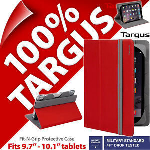 """Targus Fit-N-Grip Tablet Case Stand Cover Folio fits 9.7"""" 10.1"""" iPad Pro, Air 2"""