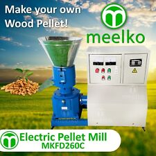 "PELLET MILL 15kw 10"" DIE 3 PHASE STOCK USA (8mm special for wood)"