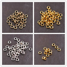 100Pcs Tibetan Silver Gold Bronze Rings Spacer Beads Jewelry Finding 6x2MM B3142