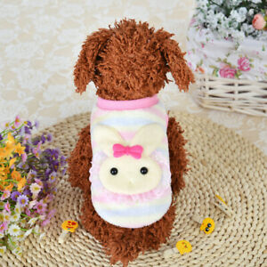 XS Cute Rabbit Puppy Winter Warm Sweater Pet Clothes Teacup Baby Dogs Clothing