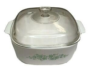 Corning Ware Ivy Vines 5 Liter Covered Dutch Oven A-5-B English ivy made in USA