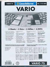 LIGHTHOUSE 25 VARIO STOCK SHEETS 7S SEVEN POCKET BLACK BACKGROUND