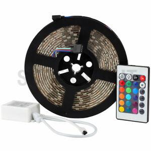 SUPERNIGHT® 5M 5050 RGB 300 LED Strip Light Waterproof+4-Pins 24-Keys Contoller