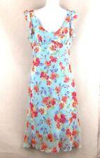 La Belle Ruffle Cap Sleeve Pretty Pastel Floral Sundress Fully Lined Size 7
