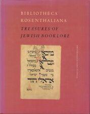 BIBLIOTHECA ROSENTHALIANA - TREASURES OF JEWISH BOOKLORE