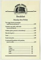 Original Vintage Breakfast Lunch Menu HOTEL FAUST Restaurant New Braunfels Texas