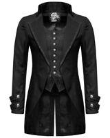 Mens Gothic Jacket Vintage Steampunk Victorian Tailcoat Morning Jacket Uk Stock