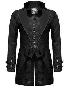 Mens Gothic Tuxedo Jacket Vintage Steampunk Victorian Tailcoat Gentleman Jacket
