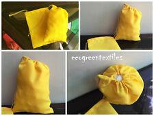 100 (5x7) Yellow Cotton Muslin Drawstring Bags Soap Herbs~Premium Quality Bags ~