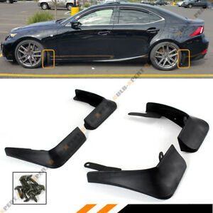 4 PCS FRONT & REAR SPLASH GUARD MUD FLAP FOR 2014-2020 LEXUS IS250/350/200T/300