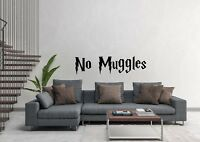 No Muggles Harry Potter Inspired Design Wall Art Decal Vinyl Sticker