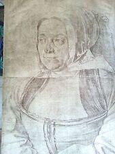 Durer 10.6x16 offset dated 1521 rare printed 1875 Albrecht Durer's Mother early