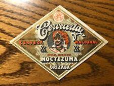 Old Vintage Beer Label Cerveza Dos Equis Moctezuma Cerveceria Mexico Mexican