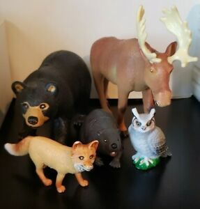 Learning Resources Jumbo Forest Animals - Bear, Moose, Beaver, Owl, and Fox, ...