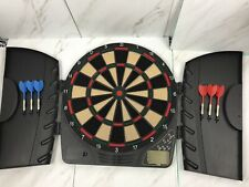 Halex Synergy Electronic Soft-Tip Dart Board Cabinet #40-65604 29 Games TESTED