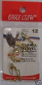 EAGLE CLAW Brass Barrel Swivels Size 12 Qty (7)1041-012