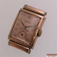 Vintage Benrus Swiss 17j Wrist Watch Model AX 11 For Parts Repair Good Balance