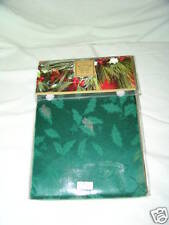 Tablecloth Lenox Holly Damask 60 X 84 Oval NIB Green