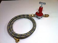 Adjustable 0 to 40psi Propane Regulator POL 10ft Hose LP Gas burners fryers