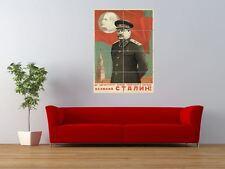 PROPAGANDA STALIN LENIN USSR COMMUNISM GIANT ART PRINT PANEL POSTER NOR0405
