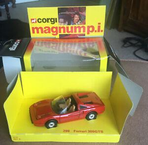 Corgi 298. 1982. RARE Magnum P.I. Ferrari 308 GTS Near MINT CAR. BOXED.
