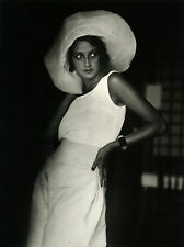 vintage art print lartigue hat photo black white 1920 fashion model old