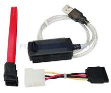 "USB 2.0 to SATA IDE Cable ATA Converter Adapter for Hard Drive 2.5"" 3.5"" DVD CDR"