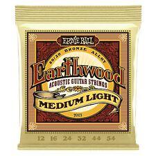 Ernie Earthwood Bronzo Medio Ball lightacoustic corde chitarra-Gauge 12-54