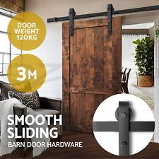 3m Sliding Barn Door Hardware Track Set Home Office Bedroom Interior Closet