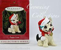 1999 Hallmark Puppy Love German Shepherd Keepsake Ornament 9th in Series #9