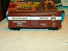 "BevBel/Athearn #1734-1 Pennsylvania ""Merchandise Service 40' Box Car #92485, Kds"