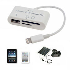 3 in1 USB SD Card Reader Micro Camera DSLR Link Adapter readers for Apple iphone