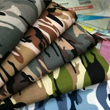 1 Yard Fashion Army Green Camo Camouflage Print Cotton Material Fabrics Poplin