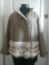 Donna Salyers Fabulous Furs Faux Fur Mink Jacket Size Medium M Coat